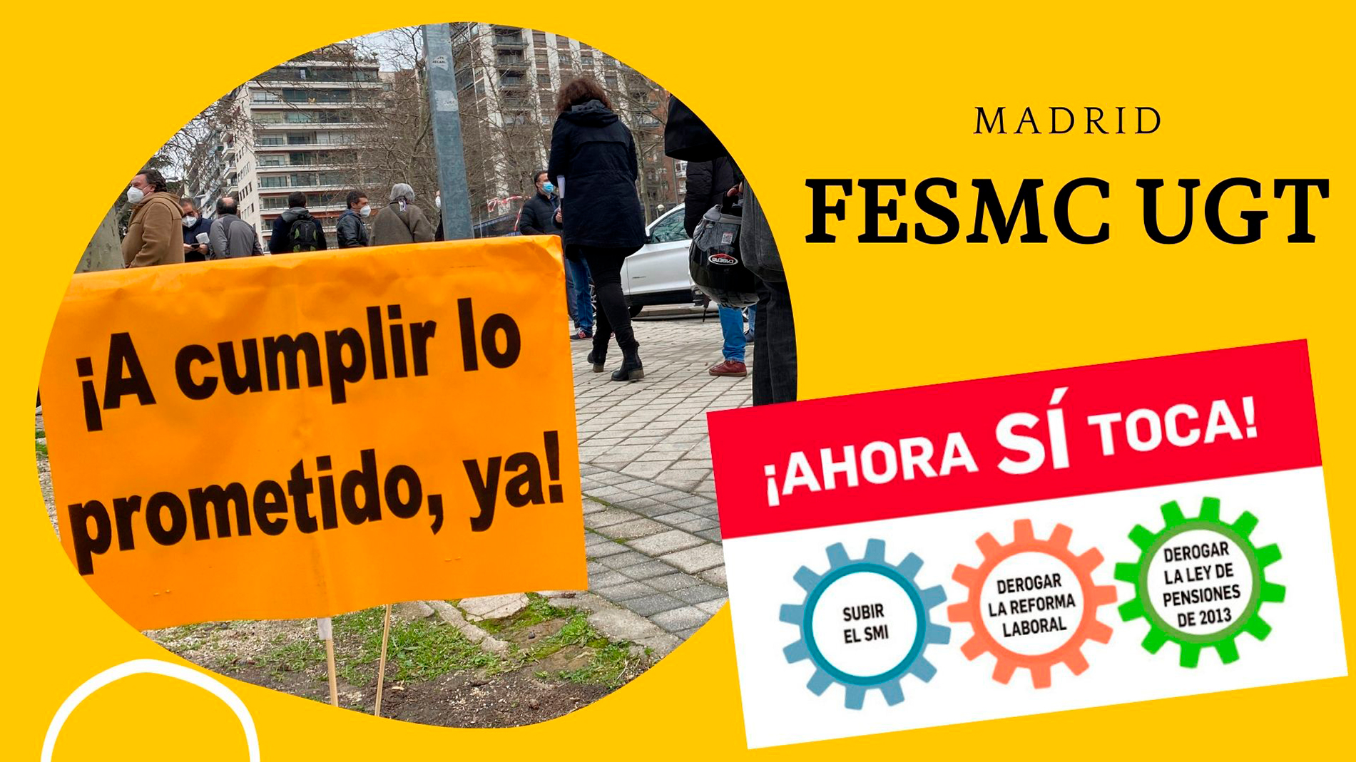 VIDEO | FeSMC UGT Madrid | CONCENTRACION | ¡AHORA SI TOCA!