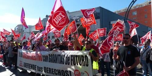 Ugt se moviliza por un convenio justo en servicios de for Sindicato jardineros