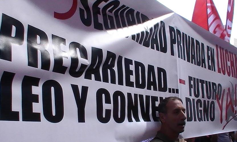 EN MADRID, MAS DE 1500 PROFESIONALES DE LA SEGURIDAD PRIVADA SE MOVILIZARON POR SU CONVENIO